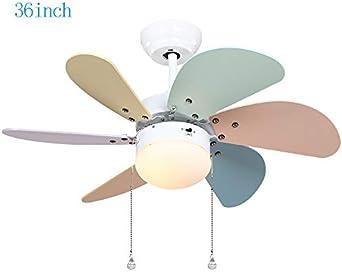 Jack Mall Hada de la flor pequeño ventilador de techo luz moderna minimalista LED jardín de infantes dibujos animados color de la habitación ventilador de luz: Amazon.es: Iluminación