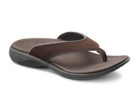 Dr.Comfort Men's Collin Sandal Chocolate Nubuck 9