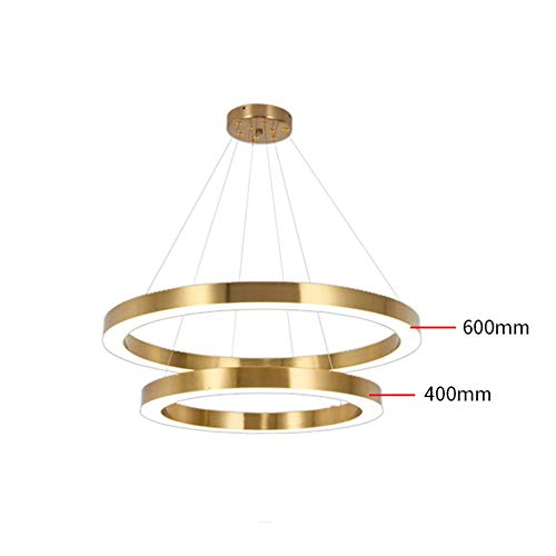 - LJJL Ceiling Light Chandelier, Led Gold Circular Ring Lobby Living Room Duplex Hotel Chandelier White Light 2 Layer / 3 Layers Pendant Light (Color : A)