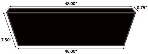 "Moldings Online Mohawk Butterscotch Collection: Rockford Oak Riser, 48"" L x 0.75"" H -  2616348423"