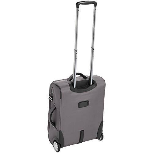 AmazonBasics Upright Spinner Expandable Softside Suitcase Luggage with TSA Lock and Wheels