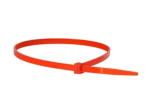 Monoprice Cable Tie 14 inch 50LBS, 100pcs/Pack - Red