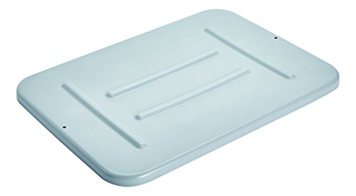 (Rubbermaid Commercial Products FG364800GRAY Food Service Bus/Utility Tote Box Lid for 4 5/8 gal, Gray)