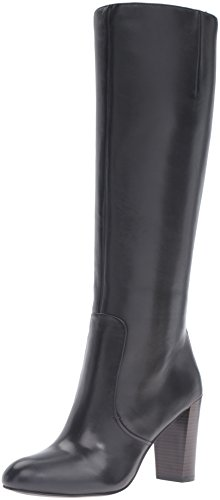 Nine West Women's Sabora Knee-High Boot, Black, 7.5 M US