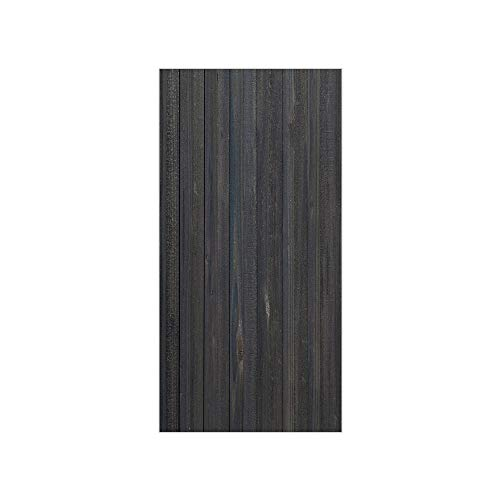 (3D Decorative Film Privacy Window Film No Glue,Dark Grey,Wood Fence Texture Image Rough Rustic Weathered Surface Timber Oak Planks Decorative,Dark Grey Blue,for Home&Office)