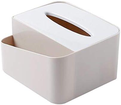 オフィス デスク オーガナイザー コンパートメント ティッシュボックス 多種選べる - ティッシュボックスアプリコットイエロー