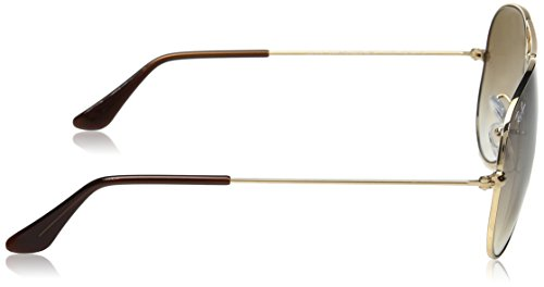58 Ray Mm Metal Or Rb3025 ban Lunettes Aviator De Soleil U0dq7F