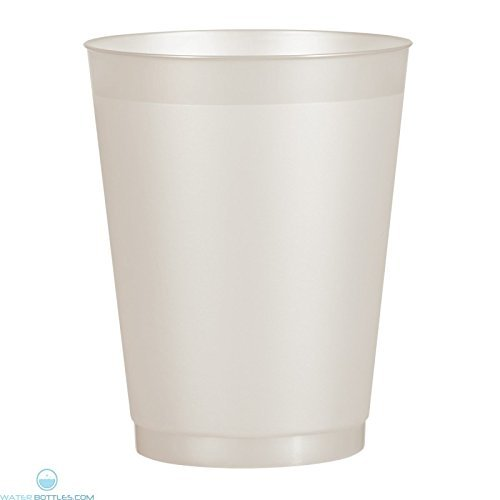 - 25-Pack Berry Plastics 16-ounce Translucent Frosty Clear Disposable Hard Plastic Tumblers
