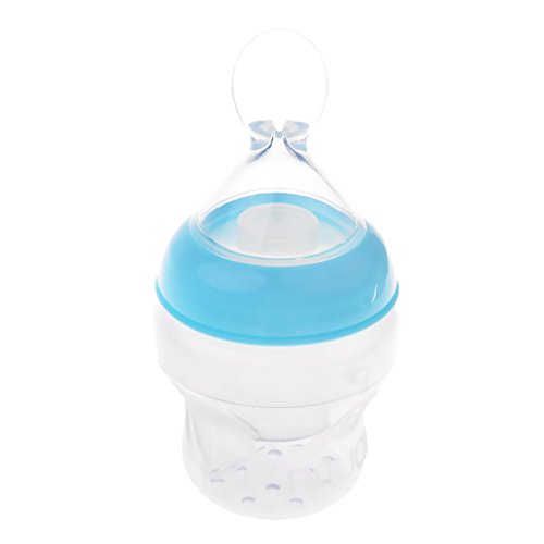 Baoblaze Baby Bottle Nutritional Supplement Rice Cereal Spoon Bottle Training Feeder - Blue, as described - Bottle Feeder
