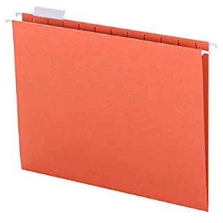 Smead Colored Hanging File Folder with Tab, 1/5-Cut Adjustable Tab, Letter Size, Orange, 25 per Box (64065) (B00006IF4K) | Amazon price tracker / tracking, Amazon price history charts, Amazon price watches, Amazon price drop alerts