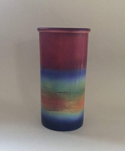 (Handmade Cape Cod Sunset Pottery Vase)