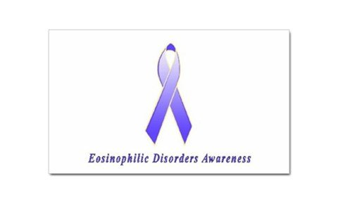 Eosinophilic Disorders Awareness Rectangular Sticker
