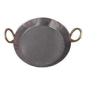 KITCHEN SHOPEE Heavy Base Iron Flat Kadai/Fry Pan for Making jalebi, dal tadka, 11 Inches,310 cm Original Iron/loha…