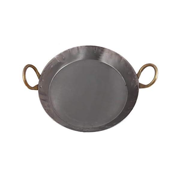 KITCHEN SHOPEE Heavy Base Iron Flat Kadai/Fry Pan for Making jalebi, dal tadka, 11 Inches,27 cm Original Iron/loha color…