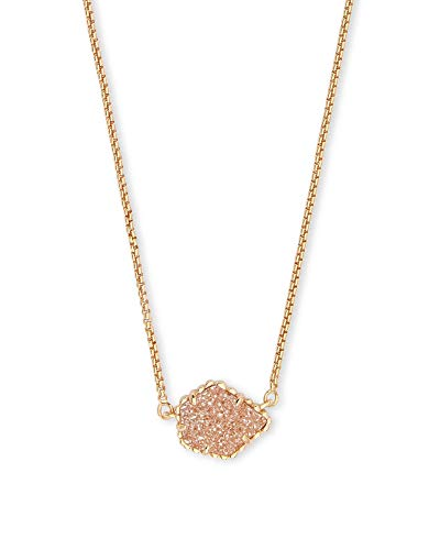 - Kendra Scott Tess Pendant Necklace in Sand Drusy and Gold Plated