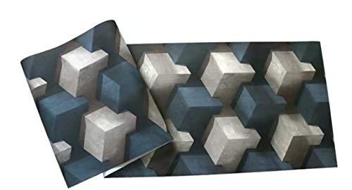 (LIUYANG Modern Minimalist 3D Wallpaper 3D Three-Dimensional Fashion Background Wall Paper Abstract Block Wall Wallpaper 0.53X10m)