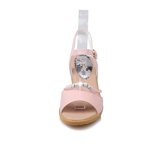 BalaMasa Womens Sandals Studded Soft-Ground Urethane Sandals ASL04952 Pink o5uR3KZ