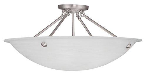 Livex Lighting 4275-91 Oasis 4-Light Ceiling Mount, Brushed Nickel by Livex Lighting