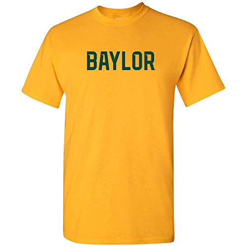 AS01 - Baylor Bears Basic Block T-Shirt - Small - Gold