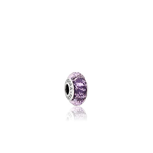 Pandora Silver & Dark Purple Shimmer Murano Glass Charm 791663