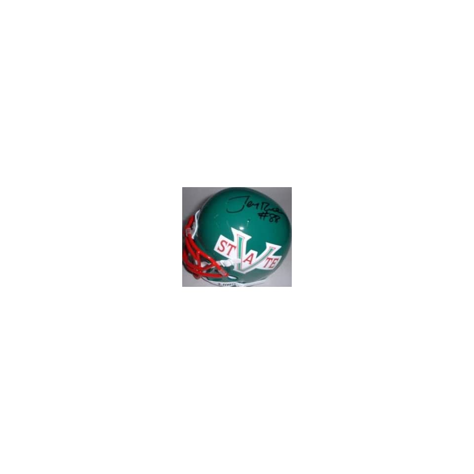 Autographed Jerry Rice Mini Helmet   MISSISSIPPI VALLEY ST.)