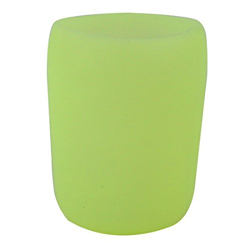 Caneca de vidro DealMux silicone antiderrapante isolamento trmico Cup luva Tampa 5,5 centmetros Outer Dia Verde Amarelo