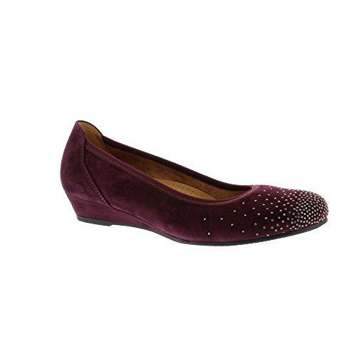 Gabor Shoes Comfort Sport, Bailarinas para Mujer, 47 EU Rojo (New Merlot)