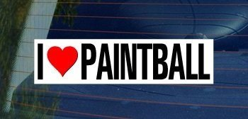 I Love Heart PAINTBALL - Sticker Graphic - Personalized Sticker Custom Sticker Street Sign Graphic