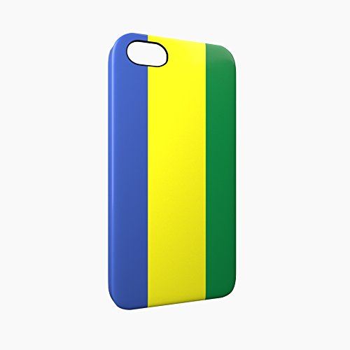 Flag of Gabon Glossy Hard Snap-On Protective iPhone 5 / 5S / SE Case Cover