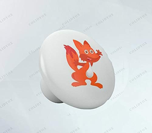 COLIDYOX___Ceramic Knob,Beautiful House,Final Touch of Personality,Easy to Install,Beautiful Red Fox Ceramic Knob,Creativity by infusing Elements of Nursery Style,Nursery Theme,Kitchen cabinets