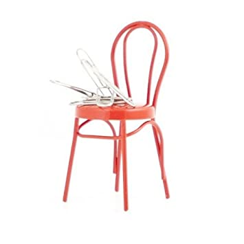 Amazon.com : Kikkerland Red Magnet Paper Clip Chair : Office Products