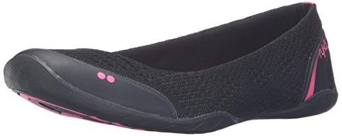 Ryka Dames Serena Fashion Sneaker Zwart / Roze