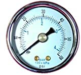 Midwest Control PSB15-200 1/8''NPT 1-1/2'' Dry Pressure Gauge 0-200 psi Back Mount