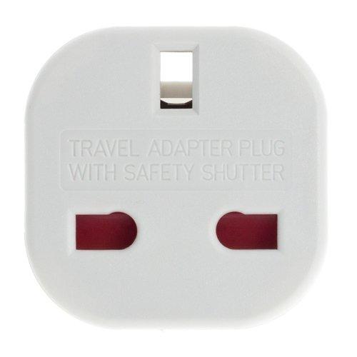 Smartfox Reiseadapter Netzstecker Reisestecker Konverter von GB//UK//England auf EU Deutschland 240 V in wei/ß