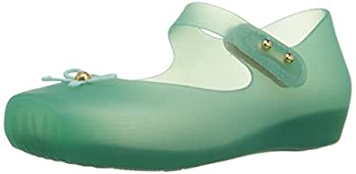 Mini Melissa Ballet SP BB Mary Jane Shoe (Toddler), Clear/Green, 5 M US Toddler