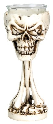 Bonehead Votive / Candle Holder - Collectible Skeleton Candleholder by YTC