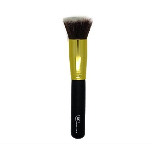Gold Flat Top Kabuki Makeup Brush From Royal Care Cosmetics RCgft
