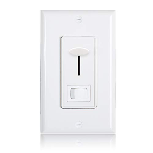 Maxxima Low Voltage 0-10V Slide Dimmer Switch, Wall Plate Included