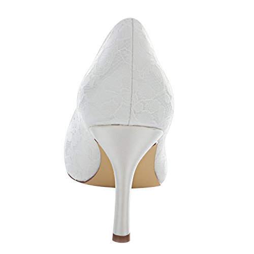 per Bridal Rosse Raso da Emily EU37 Scarpe Sposa Tacco Donne Le da Sposa Avorio in Elegante wWqWPR1xn