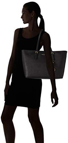 Michael Kors - Jet Set Travel Saffiano Leather Top-Zip Tote, Borsa con Maniglia Donna 6