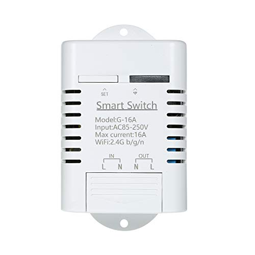 Festnight WiFi Wireless Smart Switch Module Universal App Remote Control Switch with Timer for Smart Home Automation Solution,Compatible with Amazon Alexa/Google Home/Nest,IFTTT,Sonoff and EWeLink