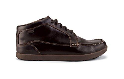 OLUKAI Wood Huli Mid Dark Shoe Men's Wood Dark afa7q