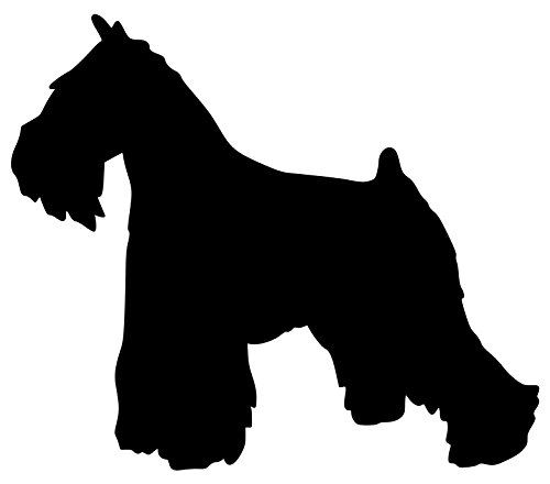 Minglewood Trading Schnauzer Terrier Dog - Vinyl Decal Sticker - Giant Standard Miniature 5