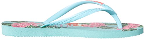 Pictures of Havaianas Women's Slim Floral Sandal Ice Blue B(M) 3