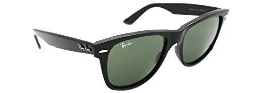 Ray Ban Original Wayfarer Rb 2140 901 54mm Black G-15xlt - Large Wayfarer Extra Sunglasses
