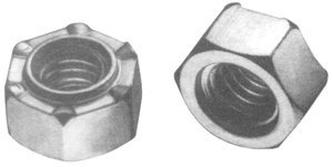 #10-24 Standard Pilot 3 Projection Hex Weld Nut by Fastenal Approved Vendor