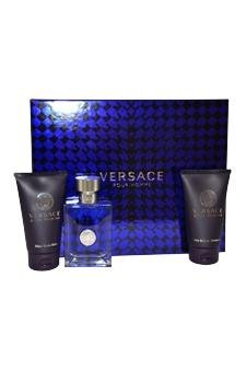 Versace Pour Homme by Versace for Men - 3 Pc Gift Set 1.7oz EDT Spray, 1.7oz Hair & Body Shampoo, 1.7oz After Shave ()