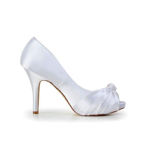 Scarpe Col Bianco 37051 Tacco Jia Sposa Donna Wedding zqA1C1