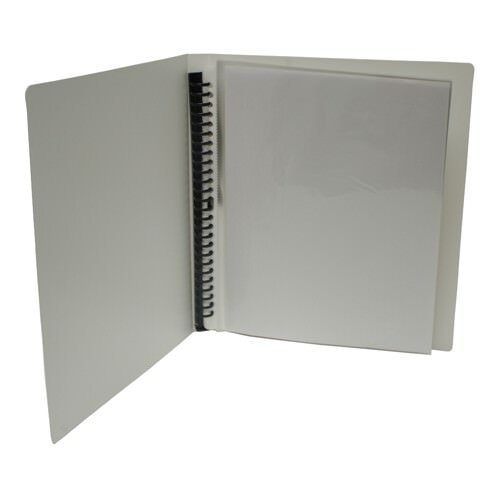 """JAM Paper Display Book - 8 1/2"""" x 11"""" - White - 24 pages per book - Sold individually"""