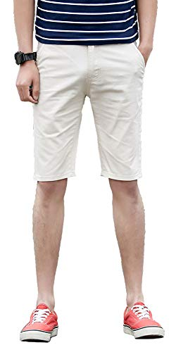 Plaid&Plain Men's Flat Front Slim Fit Shorts Men's 11